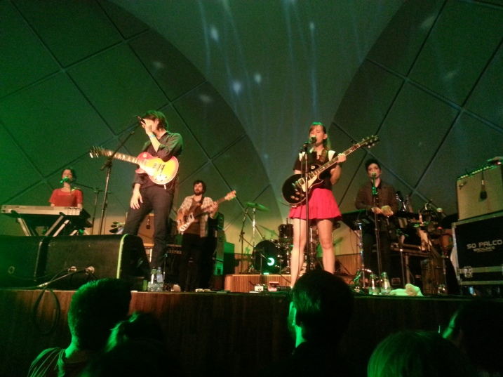 Dirty Projectors no palco do Cine Joia.