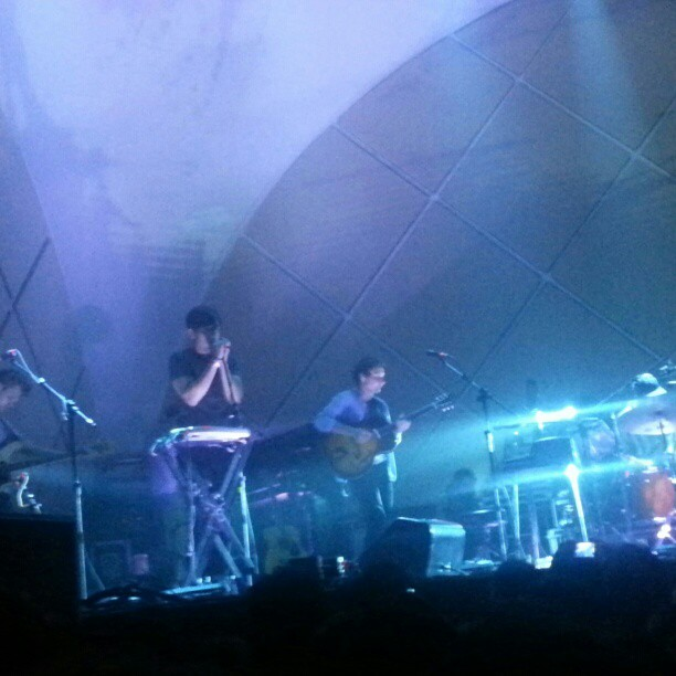 Grizzly Bear no palco do Cine Joia no último domingo